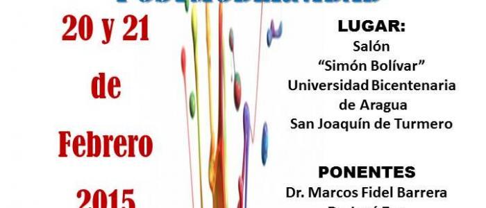 Afiche congreso Pluralidad de saberes en tiempos de postmodernidad